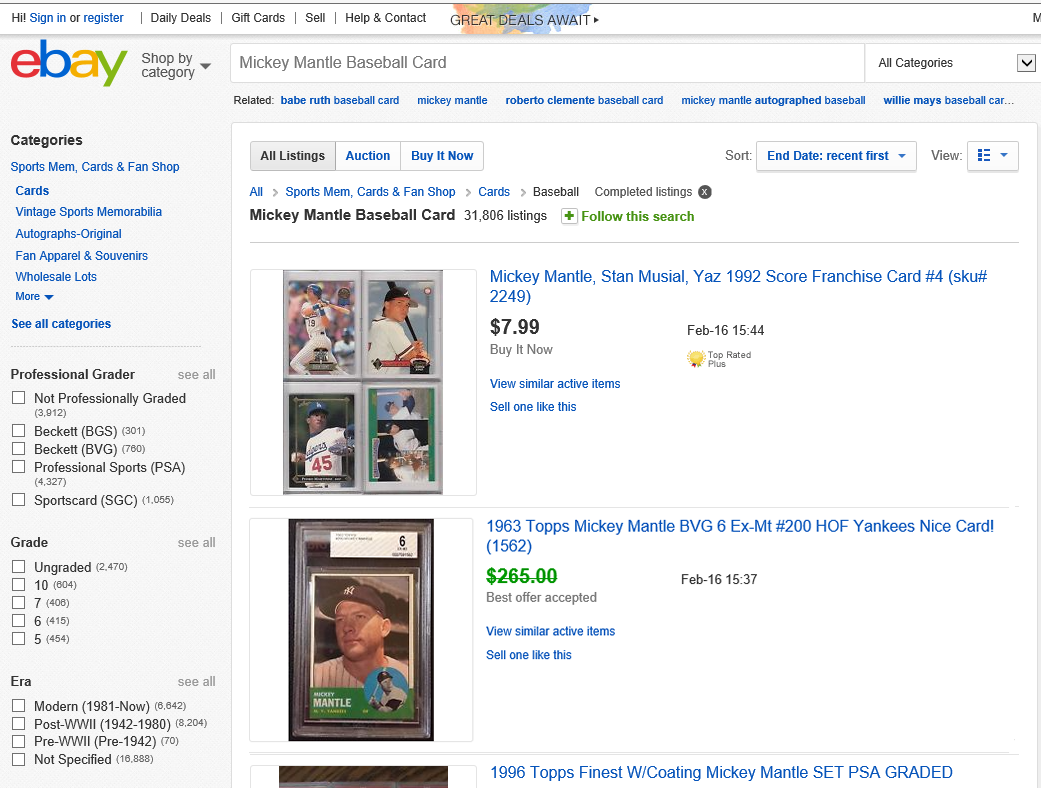 Best Offer Selling Price on Completed eBay Items/Listings ...